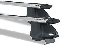 Pair of Rhino Vortex Roof Racks FORD Ranger PK PJ Dual Cab 2007 to 2011 Silver