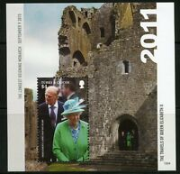 TURKS AND CAICOS 2016 THE TRAVELS OF QUEEN ELIZABETH II  SOUVENIR SHEET MINT NH