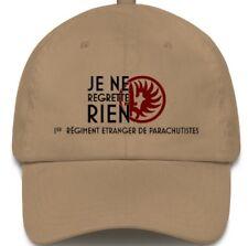 Je ne regrette rien, 1Rep Legion Etrangere khaki Embroidered Baseball cap