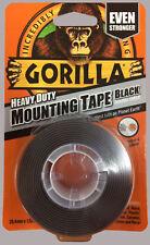 GORILLA GLUE 1.52M HEAVY DUTY DOUBLE SIDED WATERPROOF BLACK MOUNTING TAPE RDG