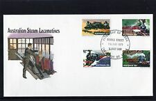1979 Australian Steam Locomotives Set Of 4 FDC, Cover Is In Mint Condition