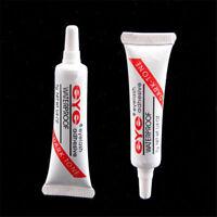 Black Waterproof False Eyelashes Makeup Adhesive Eye Lash Glue 7g Beauty Tool