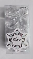 let it snow 8 x clear Crystal Jewel diamond drop christmas tree Decorations 30mm