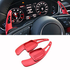 Red Steering Wheel Shift Paddle Shifter Extension For Audi A3 A5 A8 S3 Q2 Q5 Q7