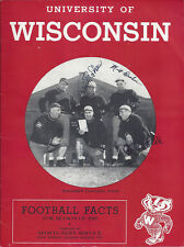 1949 Wisconsin Football Media Guide Signed HC Williamson AC CHOF Bob Odell +2AC