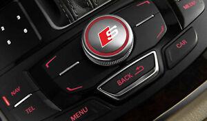 2x Audi MMI s-line sticker decal logo fits A6 A7 A8 A3 A4 Q7 Q5 RS