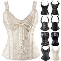 Women Steampunk Corset Bustier Overbust Top Waist Cincher Shaper Plus Size S-6XL