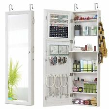 Jewelry Mirror Armoire Wall Mount Over The Door Cabinet Storage Girl Home Gift