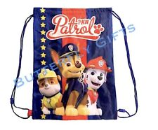 Templar Paw Patrol Gym Bag Kids Boys Drawstring PE Swim School Sport Rucksack
