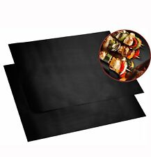 Non-stick Coated BBQ GRILL & OVEN MATS (Set of 2 Reusable Mats) (1)