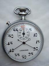 Vintage LEONIDAS stop watch rattrapante VALJOUX 330 19'''  c. 1950, très rare