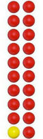 (19 RED & 1 YELLOW) Hungry Hungry Hippos Game - 20 Replacement Marbles Balls