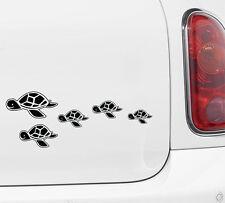 "CAR - Sea Turtle Family - Vinyl Car Decal ©YYDC (15""w x 3.25""h)(Color Choices)"