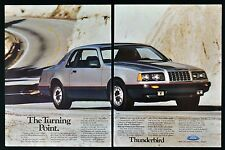 1986 FORD THUNDERBIRD Vintage Car Ad - The Turning Point - 1980's Vehicle Ad