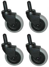 "Genuine Rubbermaid Mop Bucket Casters 7570-L2 - 3"" Non-Marking Wheels - Set of 4"