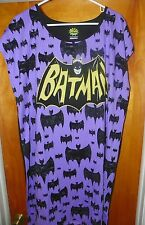 NEW DC Comics Women's BATMAN Sleep Dress / Pajama Dress 2X / 3X - 20W / 24W -L30
