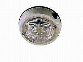 "Perko External/Internal Surface Mount 5"" Dome Light w/On/Off Switch 1253DP2WHT"