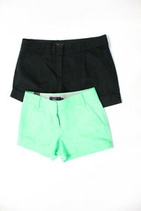 J Crew  Womens Chino Short Shorts Black Green Size 00 LOT 2
