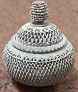 """9"""" Marble Decorative Jar Grill Design Home Showpiece Occasional Gift H731"""