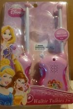 Disney Princess Walkie Talkies w/ belt clip on back Girls 3 yrs+ New