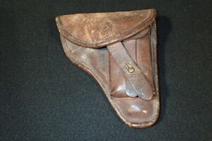 Pre-WW2 German Walther PPK Brown Leather Holster Earliest Variation, Nice & RARE