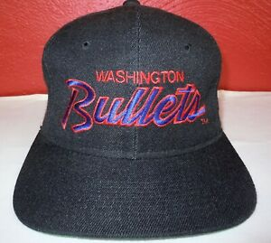 Washington / Baltimore Bullets - Vintage NBA - Sports Specialties - Script Hat