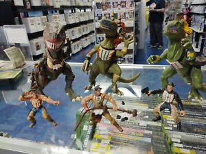 Turok Dinosaur Hunter Action Figure and tribal dino lot
