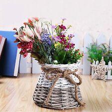 Planter Pot Indoor House Plant Handmade wicker flower basket willow plant vase