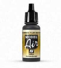 VAL251 - Model Air - NATO Black    AV Vallejo Model Airbrush Paint 17ml bottle