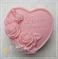 Rose Love for ever S051 Silicone Soap mold Craft Molds DIY Handmade soap mould