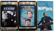 Lot Of 3 Vhs Videotapes, Moby Dick + The Guns Of Navarone + On The Waterfront