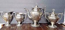 Antique Siverplate Tea Set Forbes Silver Co Quadruple Plate pattern 1885-piece