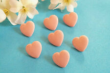 """1305B/Charming Buttons """" Small Heart """" Baby Child Pink Pale Ép. 1970/80"""