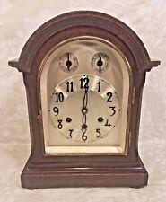 Antique Gustav Becker Mantel Clock Westminster Chimes Runs Strikes & Chimes