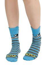DC Comics Batman Crew Socks Kawaii Socks Size 9-11 Blue WB Authentic NWT