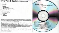 PETE YORN & SCARLETT JOHANSSON Breakup UK 9-trk watermarked promo test CD
