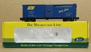 S-Helper Service 01023 L&N Boxcar #7152 S-Gauge (w/Scale Wheels) LNIB