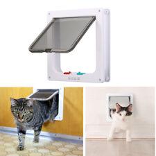 4-Way Locking Pet Cat Kitten Door Lockable Flap Door Excellent Cat Magnet Doors