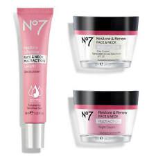 No7 Restore & Renew Face & Neck Day Night Cream Multi Action Serum *NEW & BOXED*