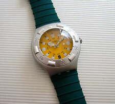 TOUTATIS! Irony Scuba 200 Swatch w DATE, Silicone Strap, Glow Hands! NIB-RARE!