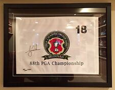 Tiger Woods LE UDA Signed 88th PGA Major Championship Framed Pin Golf Flag COA
