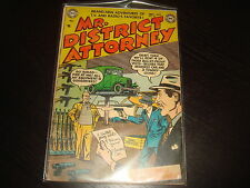 MR DISTRICT ATTORNEY #35  Golden Age Pre-Code Crime  DC Comics 1953 VG