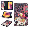 3D Printed Patterned PU Stand Case Tablet Cover For Samsung Galaxy Tab A E S2 S3
