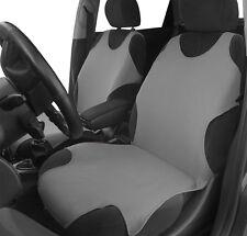 2 grigio sul davanti cotone canotta Car Seat Covers Protettori per Nissan Note