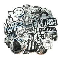 50 Brushed Metal Pop Culture Stickers Bomb Pack Music Rude Laptop Mac Car Decals