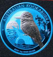 "Australien 1 Dollar 2019 Kookaburra 1 oz  #F3842 ST-BU Nur 500 ""Space Blue"""