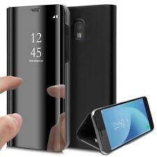 Etui pour Samsung Galaxy j5 (2017) avec Film de Protection Souple Clear View - Noir