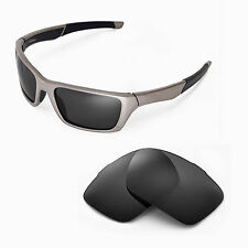 New Walleva Polarized Black Replacement Lenses For Oakley Jury Sunglasses