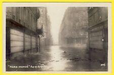 cpa 75 - PARIS INONDÉ La Rue de BELLECHASSE et le Bd SAINT GERMAIN Commerces