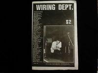 WIRING DEPT. '85 punk fanzine- COC*FLAMING LIPS*R.E.M.*FRIGHTWIG*FAITH NO MORE +